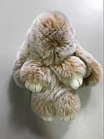 Меховой брелок-кролик меланж Rex Fendi натуральный