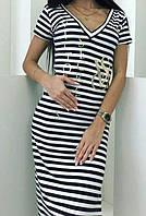 Платье в полоску женское (вискоза) Victoria's Secret, фото 1