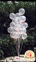 №41 Фонтан из прозрачных гелиевых шаров Днепр