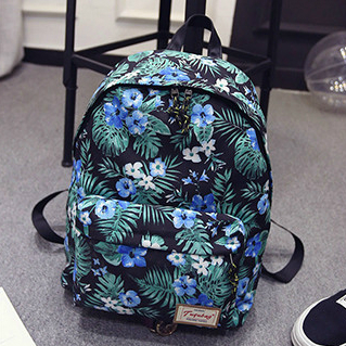 Модный рюкзак с тропическими листьями