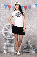 Молодежная юбка для беременных Zoi черная, фото 1