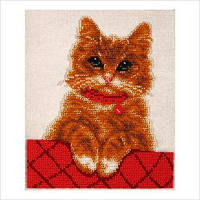 """Схема для вышивки бисером """"Котик Персик"""""""