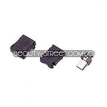 Разъем micro USB  папа в пластиковом корпусе (под пайку на кабель) оптом от 20$
