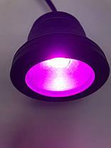 Светодиодный круглый фитопрожектор SL-10-12F 10W 12V IP67 черный (full spectrum led) Код.58927, фото 3