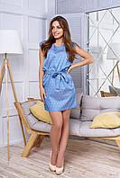 Короткое женское  летнее платье А 46 джинс  Arizzo 44-54  размеры