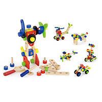 Конструктор деревянный Viga Toys (68 деталей), детский деревянный конструктор