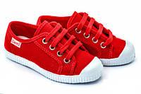 Кеды красные на шнурках, р-р. 18-43, ТМ Cienta (Испания)