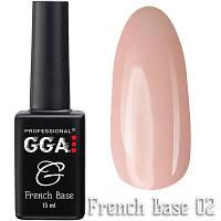 Френч каучуковая база French Base GGA Professional Тон 02