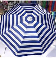 Зонт для сада, пляжа круглый с наклоном 1,8 м цветной с серебренным покрытием