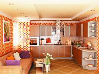 "Угловая кухня ""Капучино"" 2,5*1,6 м"