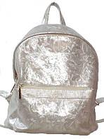 Рюкзак женский натуральная кожа серебристый BigBag 732504