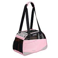 БЕРГАН ВОЯЖЕР КОМФОРТ сумка переноска для собак и кошек до 4,5 кг, 43х30х20 см, голубая и розовая