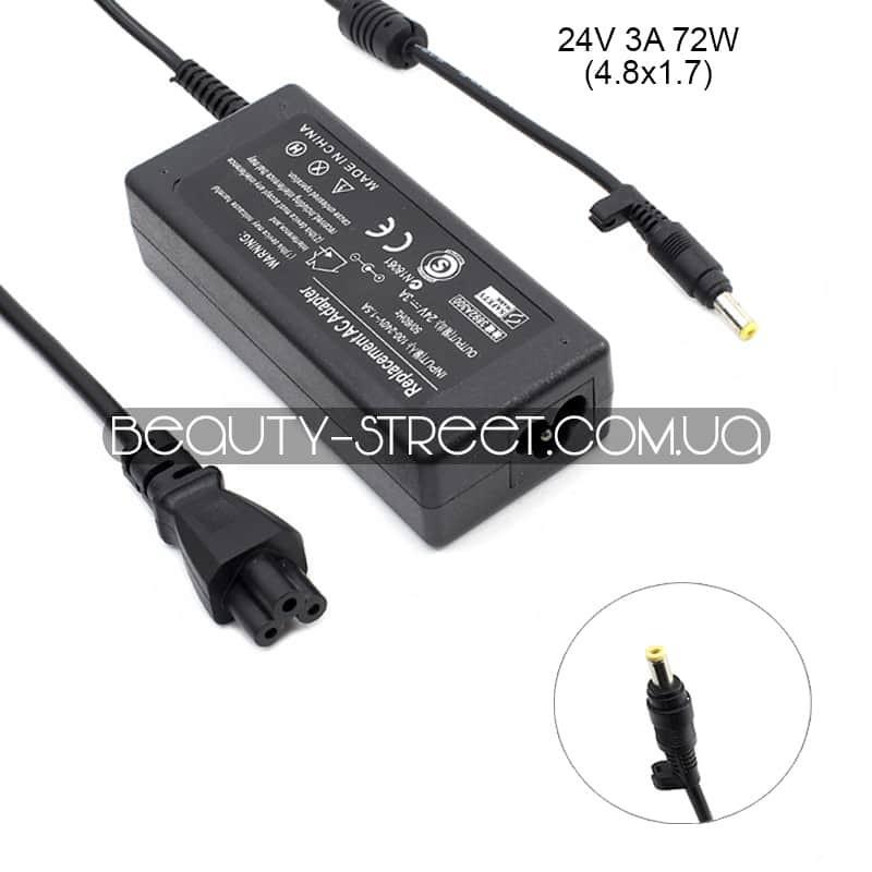 Блок питания для LCD монитора 24V 3A 72W 4.8x1.7 (B) оптом от 3шт