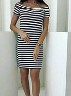 Платье в полоску женское (вискоза) , фото 1