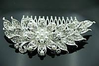 Свадебные украшения - гребешки для волос. Цветочные гребни в волосы для невест 444