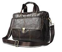 Мужская кожаная сумка Ox Bag Briefcase (коричневая, натуральная кожа)