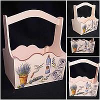Декоративный ящик из фанеры в стиле Прованс, ручная работа, 22х16х28 см., 280/250 (цена за 1 шт. + 30 гр.)