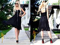 Роскошное платье.  Ткань - креповая костюмка и мульти шифон. Размер С и М. (21346)
