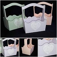 Сиреневый ящик с рисунком в стиле Прованс, ручная работа, 22х16х28 см, 200/170 (цена за 1 шт. + 30 гр.)