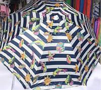 Зонт для сада, пляжа круглый с наклоном 2,2 м с серебряным напылением цвета в ассортименте