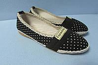 Балетки Espadrlle 789-5 черные в горох код 0619А
