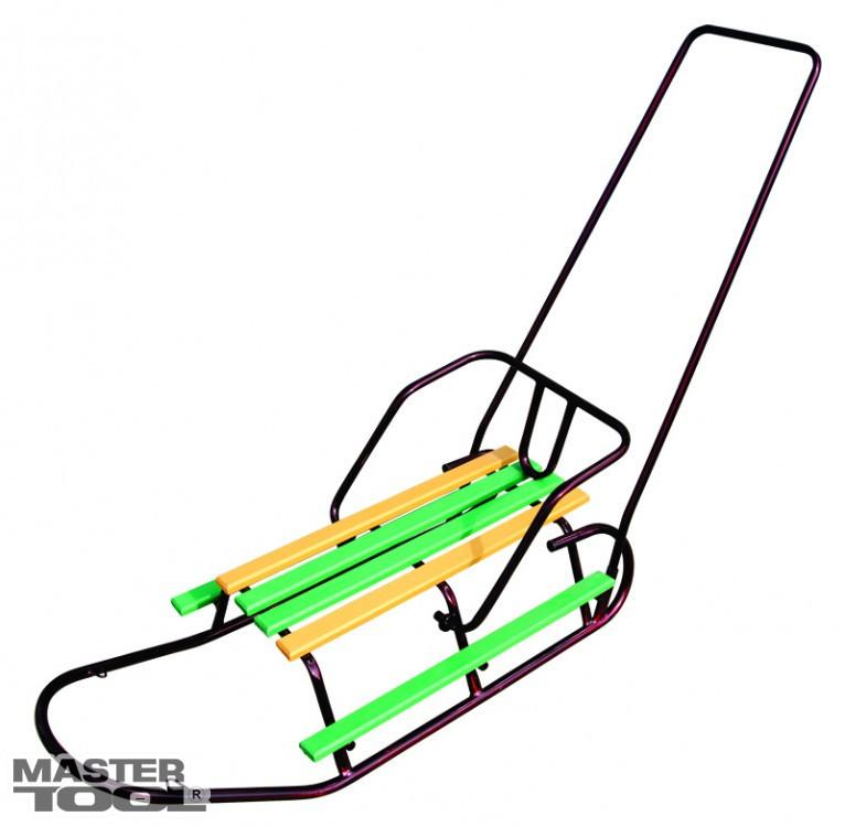 Санки с подножками и ручкой Mastertool 92-0246