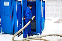 Очистка био-кабин. Обслужывание биотуалета в Киеве. Выкачка био- туалетов.