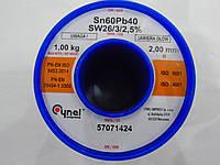 Припой 1кг 2.0мм S-Sn60Pb40 sw 26/3./2.5% iso9001 iso14001