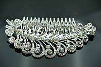 Элитные свадебные украшения на голову. Свадебные гребешки в волосы для невест 447