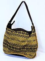 Сумка женская текстильная вязаная сумка Contempo горчичная