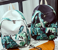 Молодежный рюкзак с зелеными листочками