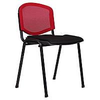 Стул Призма Веб черный сиденье Сетка черная, спинка Сетка красная (АМФ-ТМ)