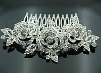 Шикарные свадебные украшения на голову. Свадебный гребешок в волосы для невесты 450