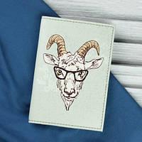 Обложка для паспорта Goat (ручная работа), фото 1