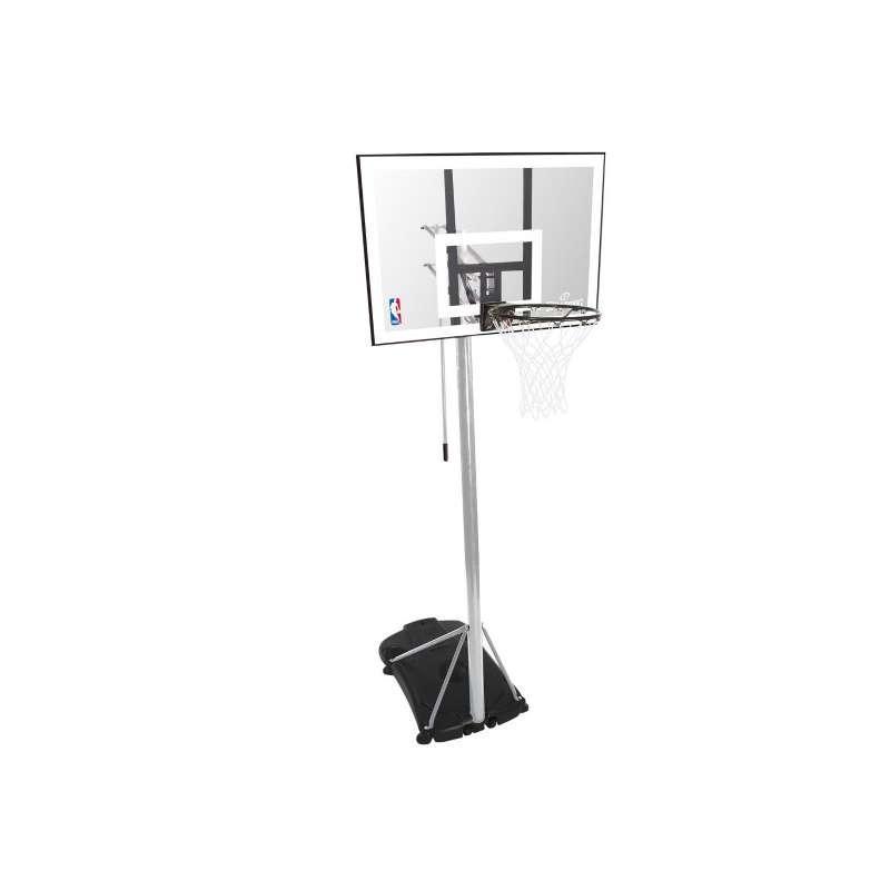 """Баскетбольная стойка (мобильная) Spalding Silver 44"""" Rectangle Acrylic"""