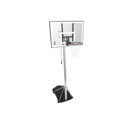 """Баскетбольная стойка (мобильная) Spalding Silver 44"""" Rectangle Acrylic, фото 2"""