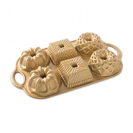 Форма для выпечки Bundtlette gold, 36 х 21 х 4 см, фото 2