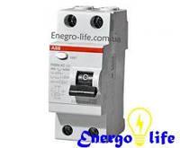 Устройство защитного отключения АВВ FH202 AC-40/0,03  защищает проводку от коротких замыканий, перегрузок, от утечек и поражения током