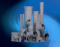 Трубы ПВХ для внутренней канализации 110х2,7х2000