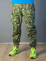 Камуфляжные мужские штаны с манжетами