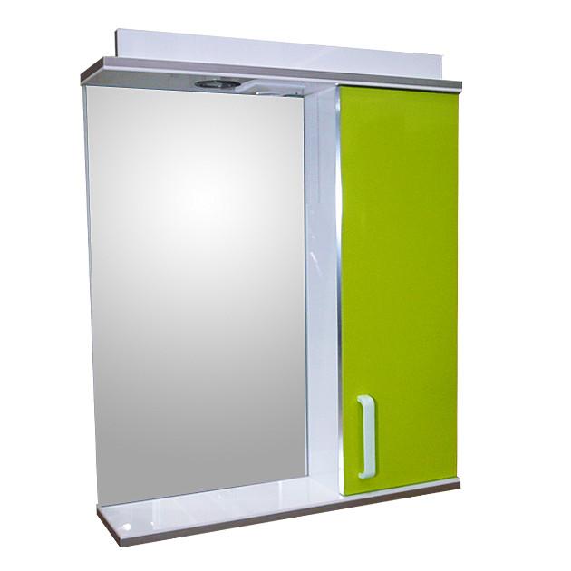 Зеркало 60 для ванной комнаты с подсветкой и шкафчиком Дебют Перфект  канарейка