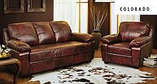Шкіряний комплект меблів Колорадо (3+1), м'які меблі, меблі в шкірі, шкіряні меблі, комплект меблів, фото 2