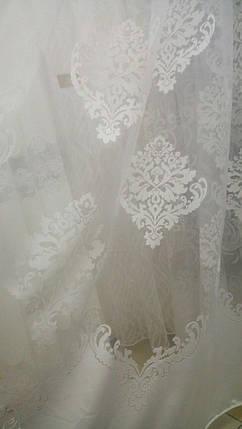 Тюль Корона Белая, органза печать, фото 2