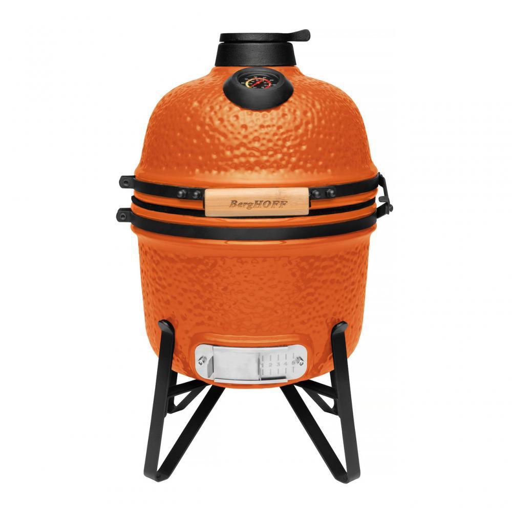 Маленький керамический гриль-печь, оранжевый