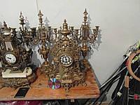 Немецкие каминные часы с канделябрами!