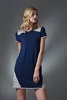 Сорочка нічна жіноча темно-синього кольору із серії віскоза b6caca7bee42c