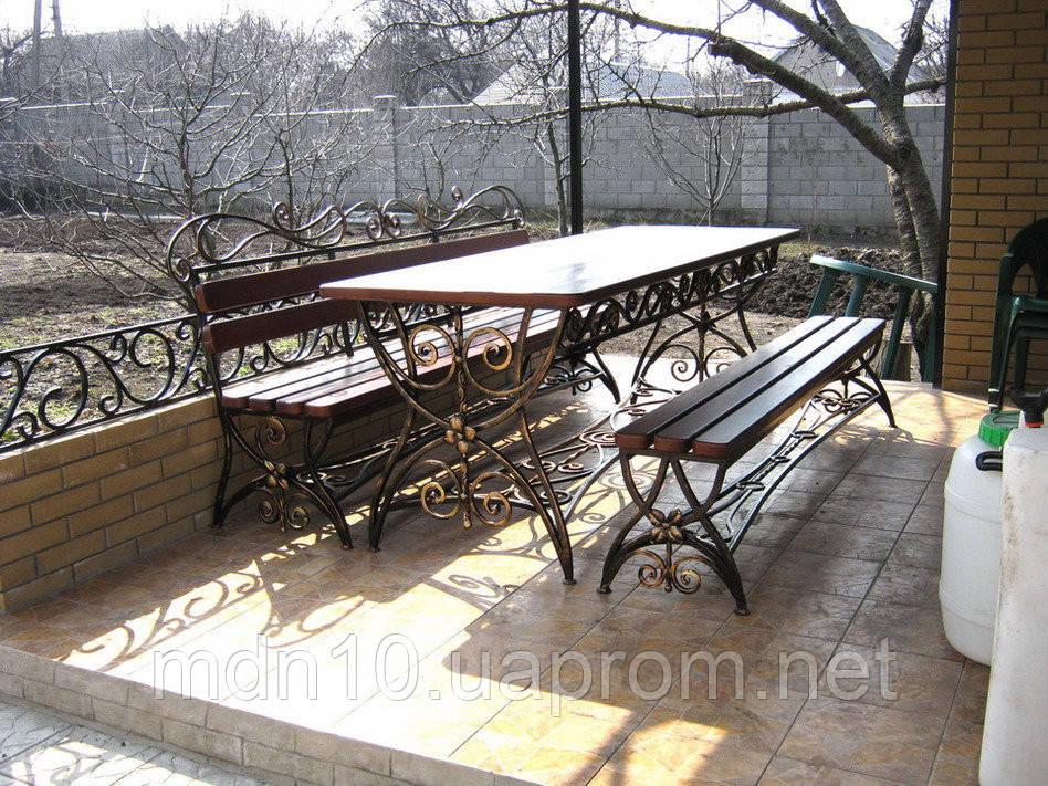 Набор садовый  - стол + 2 лавки