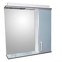 Дзеркало 70 для ванної кімнати з підсвічуванням і шафою Дебют Перфект мотиль бірюза, фото 1