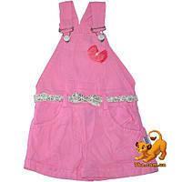 """Детские летние комби - шорты """"Бант"""" , коттон , для девочки (6-18 мес) 3 ед. в уп."""