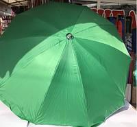 Зонт для сада, пляжа, торговли круглый однотонный 2,4 м с серебряным напылением